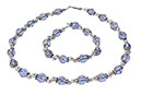 Blue Ice Necklace and Bracelet