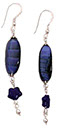 Blue-Black Dangling Earrings