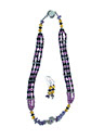 Depths of Purple Necklace and Earrings