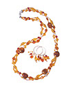 Fall with a Twist Necklace and Earrings