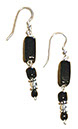 Long Black Dangling Earrings