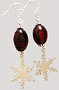 Ruby Snowflake Earrings